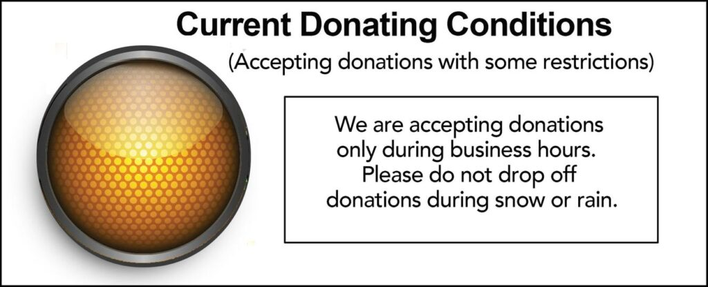 Donations Accepted with conditions